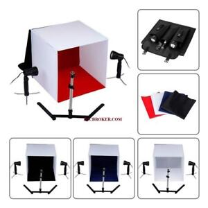 Fordable Photo Studio Light Box Kit with 2 50W Halogen Lights - SIZE 60CM*60CM*60CM
