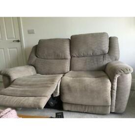 2 seater reclining sofa