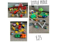 Little people zoo and farm sets plus vechical