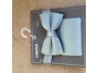 M&S mint green bow tie and handkerchief - brand new