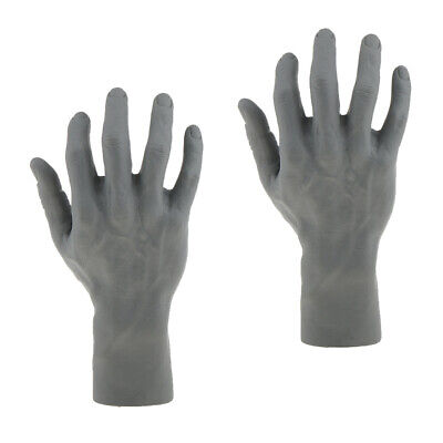 Pair Male Mannequin Right Hand Jewelry Bracelet Watch Glove Ring Display Stands