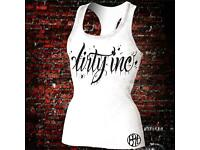 Premium Racer back Tank Top from our Dirty Inc Range