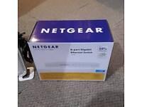 Netgear8 port gigabit Ethernet switch GS 608