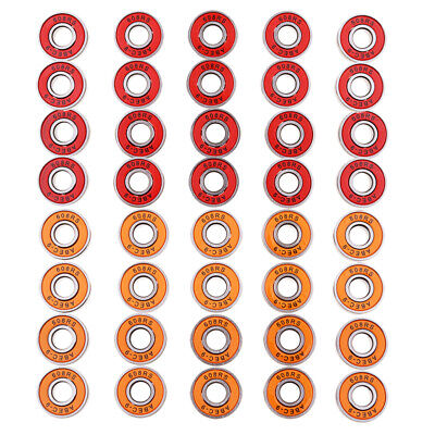 40x Abec 9 Wheel Ball Bearings Skateboard Scooter Inline Roller Skate 2color