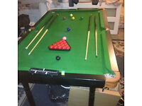 Snooker/Pool Table Table 6 foot by 3 Foot