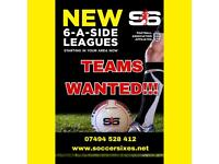 TIPTREE 6-A-SIDE FOOTBALL LEAGUE!