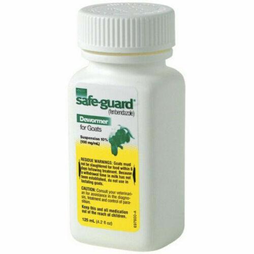 NEW - Merck SafeGuard Goat Dewormer, 125mL fenbendazole wormer safe-guard