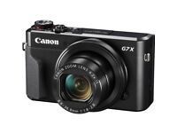 Beautiful Canon Powershot G7x Mark II compact digital camera, protective case and 3 BATTERIES!