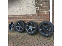 Ford black allow wheels x4