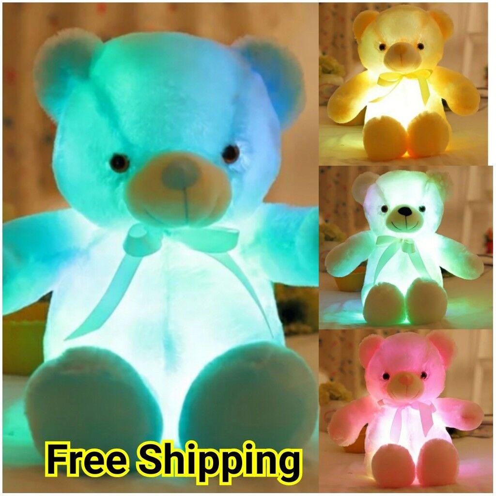 Teddy Bear Light Up LED 50cm Plush Toy Stuffed Animal Christ