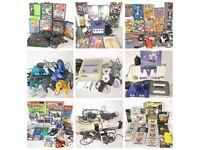 Vintage Video Game Console & Controllers Bundle (Nintendo Sega NES SNES Mega Drive Gameboy)