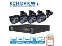 JOOAN 8CH 1080N DVR XVR 1000TVL Camera CCTV Kit 4CH Security System PLUS FREE 500gb HARD DRIVE