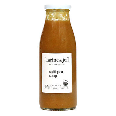Karine and Jeff - French Organic Split Pea and Vegetable Soup, 16.9 fl. oz -