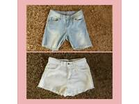 2 pairs of women's size 8 shorts from Primark