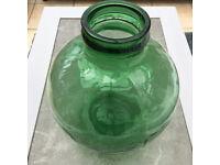 VINTAGE LARGE VIRESA TERRARIUM / CARBOY / DEMIJOHN BOTTLE IN CHUNKY GREEN GLASS