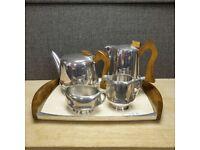 Mid Century Modern Picquot Ware J6 Tea and Coffee Set