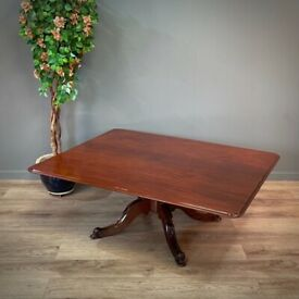 Attractive Very Large Antique Victorian Rectangular Mahogany Coffee Table
