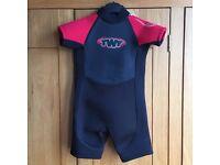 Childs Kids Junior TWF Shortie Wetsuit 2.5mm Size Age 2-3 Unisex Boys Girls