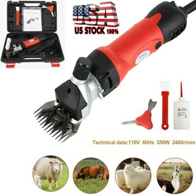 Sheep Goat Clippers Shears Electric Animal Shave Grooming Farm Supplies Red New