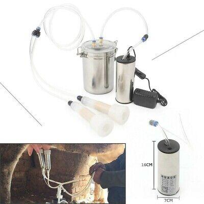 2l Portable Vacuum Pump Electric Milking Machine Fits For Farm Cow Sheep Goat