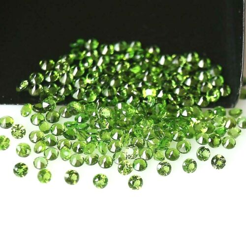 Wholesale Lot 1mm Round Facet Natural Chrome Diopside Loose Calibrated Gemstone
