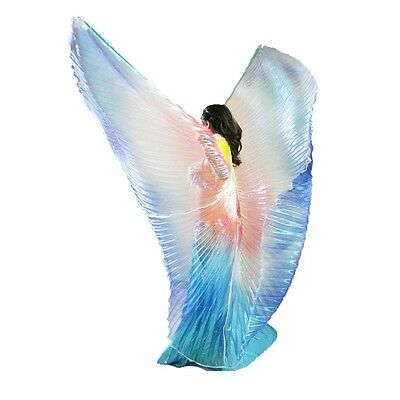 AU Child/Adult Belly Dance Costume Kid women isis wings blue yellow red Colors - Baby Belly Costume