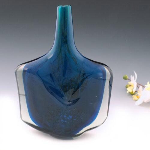 A Vary Tall Signed Mdina Axe Head Vase 1987