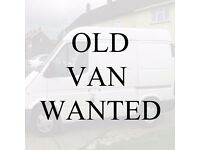 Wanted - MOT failure van to use as shed