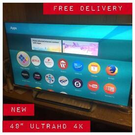 "Panasonic 49"" 4k smart Tv UltraHD bargain cheapest on the net WARRANTY FREE DELIVERY"