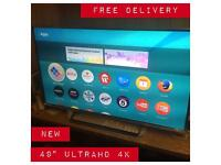"Panasonic 49"" 4k smart Tv UltraHD bargain cheapest on the net WARRANTY FREE DELIVERY"