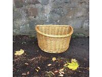 Wicker bike basket- brand new