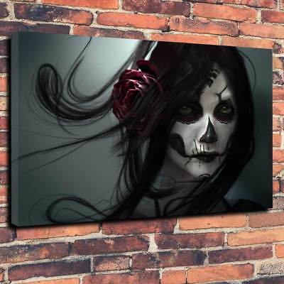 Gothic Beauty, Voodoo Queen Printed Canvas A1.30