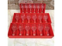 12 Large Wine Glasses and 6 small