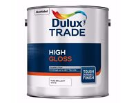 2.5L Dulux Trade High Gloss Paint Pure Brilliant White