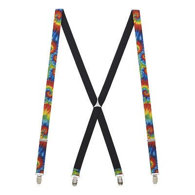 Tie-Dye Swirl Suspenders - Tie Dye Suspenders