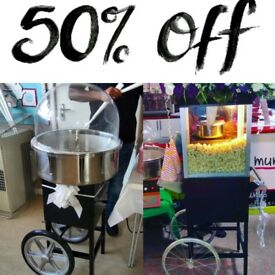 Popcorn cart &Candy floss cart