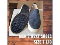 Next Mens Blue Shoes Size 7 New