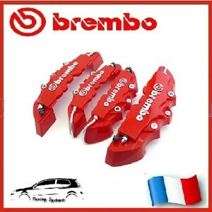 cache etrier de frein brembo 3d universel rouge tuning peugeot 208 gti e hdi ebay. Black Bedroom Furniture Sets. Home Design Ideas