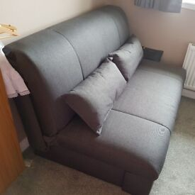 Small double sofa bed in charcoal from Dreams £380 ono