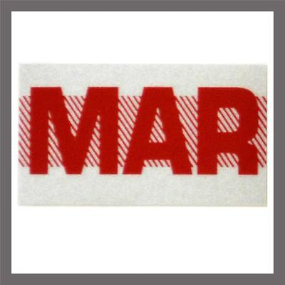 March Month California Dmv License Plate Red Registration Sticker Tag Yom Ca