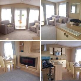 Luxury static caravan for sale at Sandy Bay - 2017 fees included - Finance available