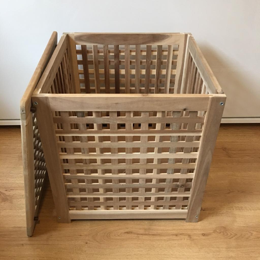 Ikea Hol Blanket/Storage Box/side Table. Acacia, 50x50cms. RRP