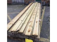 16ft treated decking 5x1inch £6.50 each