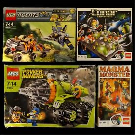 Lego Bundle - Lego Agents, Power Miners, Lunar Command and Magma Monster