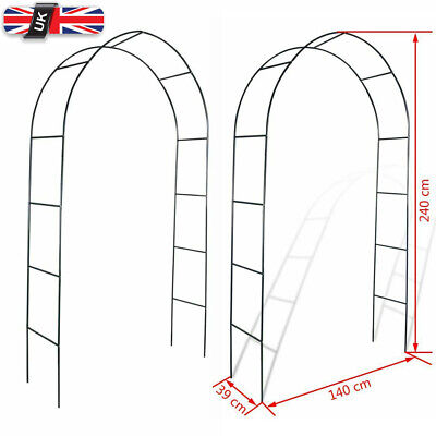 2x Garden Arch Arbour Pergola Trellis Archway Climbing Plants Support