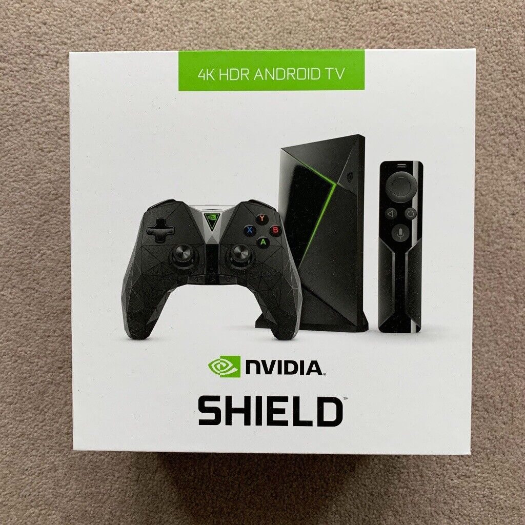 NVIDIA SHIELD TV 4K Media Streaming Device with Controller and Gamepad - 16  GB (2nd generation)   in Linlithgow, West Lothian   Gumtree