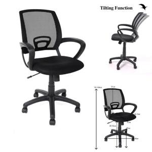 Ergonomic Mid-back Mesh Task Chair Office Computer Swivel Tilt Chair w/ Arms - BRAND NEW - FREE SHIPPING