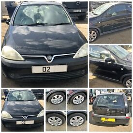 Vauxhall Corsa SXI 16v 2002 1.2 Black 3 Door Manual Petrol ( Bonnet) All Parts Available