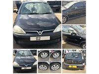 Vauxhall Corsa SXI 16v 2002 1.2 Black 3 Door Manual Petrol ( Bonnet) All Parts Available
