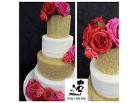 Custom Wedding Cakes made by Professional Cake Decorators